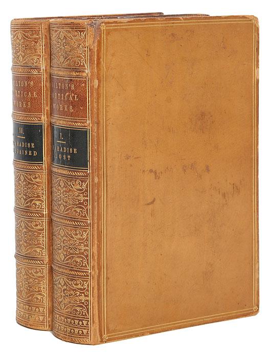The Poetical Works of John Milton (комплект из 2 книг)ПК301004_лимонный, салатовыйЛондон, 1861. Henry G. Bohn. Владельческие переплеты. Золотые обрезы. Сохранность хорошая. С портретом Д. Мильтона. Мильтон Джон (1608-1676) - один из величайших поэтов Англии, крупнейший публицист и деятель Великой английской революции. В издании представлена его лучшая поэма ПОТЕРЯННЫЙ РАЙ, доставившая ему мировую славу, вторая крупная поэма - ВОЗВРАЩЕННЫЙ РАЙ и другие поэмы. С комментариями Джеймса Монтгомери. Издание не подлежит вывозу за пределы Российской Федерации.