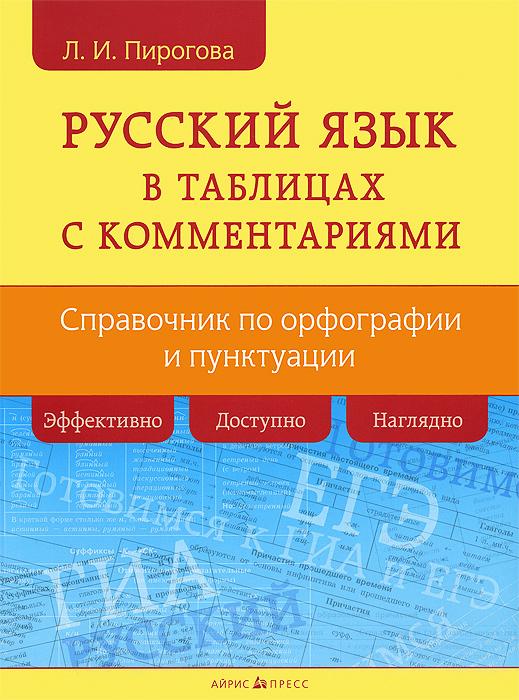 Русский язык в таблицах с комментариями