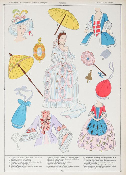 История женской одежды. 1037 - 1870 гг. Полный комплект