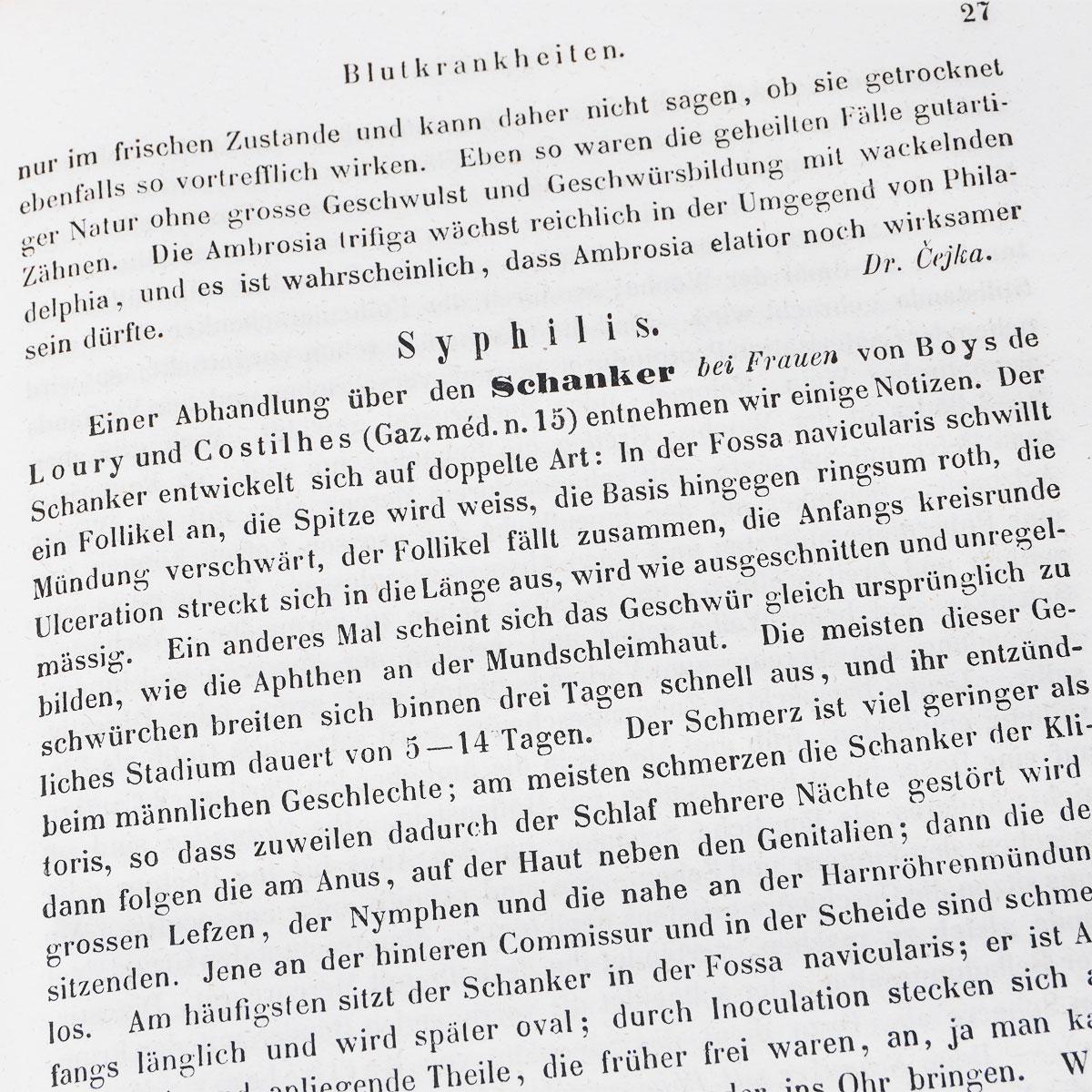 Vierteljahrschrift fur die pracktische heilkunde, herausgegeben von der medicinischen facultat in Prag