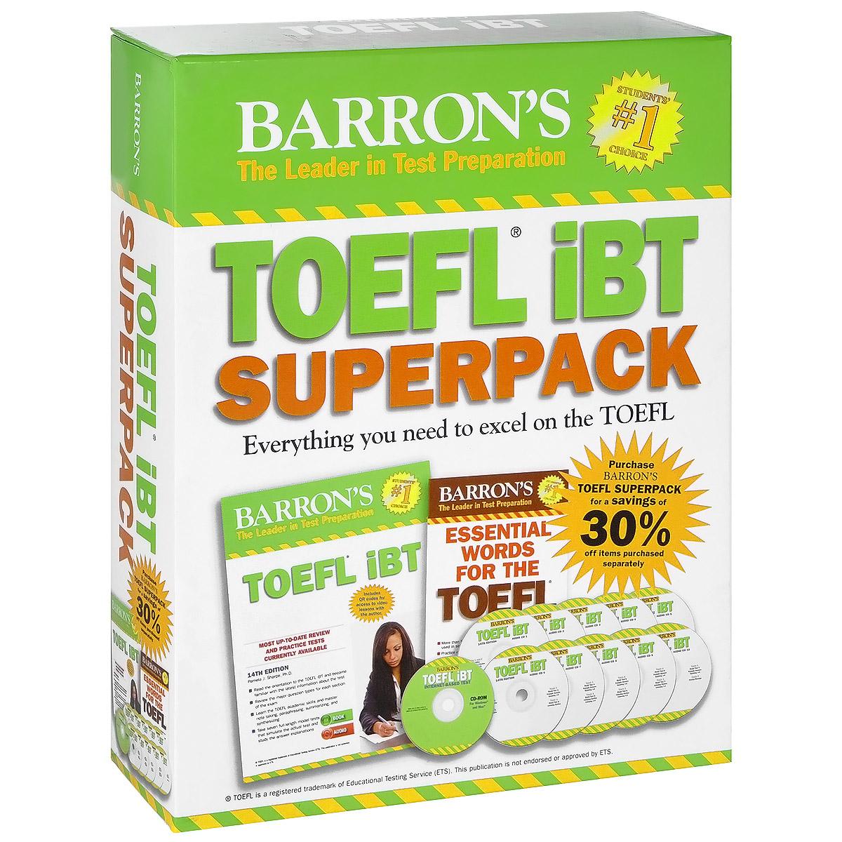 Barron's TOEFL iBT Superpack (комплект из 2 книг + 11 CD-ROM)