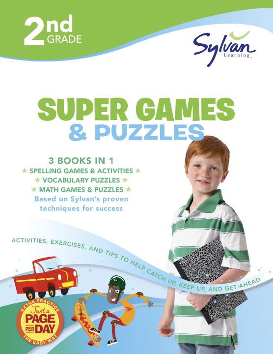 SYLVAN LEARNING 2ND GRADE GAMES PUZ(SUPR WKBK)
