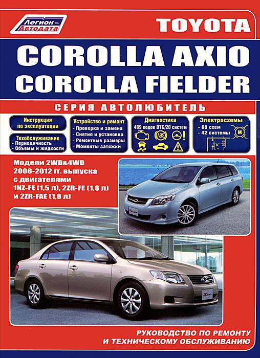 Toyota Auris / Blade. Модели 2WD, 4WD с 2006 года выпуска. Corolla Rumion. Модели 2WD, 4WD с 2007 года выпуска. Руководство по р