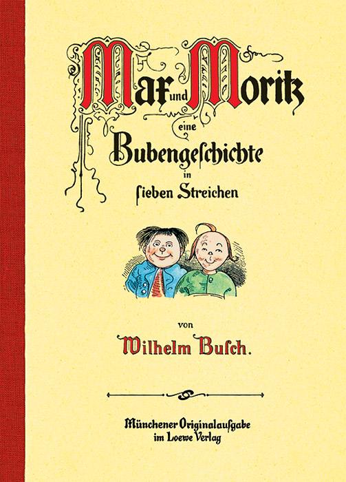 """Max und Moritz12296407Dieses war der erste Streich, dock der zweite folgt sogleich - viele der von Wilhelm Busch verfassten Reime gehdren heute zu geflugelten Worten in der deutschen Sprache. Als die Streiche von """"Мах und Moritz, im Jahre 1865 veroffentlicht wurden, konnte noch niemand ahnen, dass diese """"Bubengeschichte in sieben Streichen zu einem der bekanntesten Werke Wilhelm Buschs werden wtirde. Die klassische Bildergeschichte von Wilhelm Busch in einer originalgetreuen Neuausgabe"""