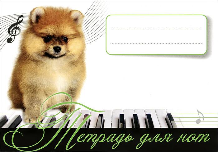 Тетрадь для нот. Рыжий щенок
