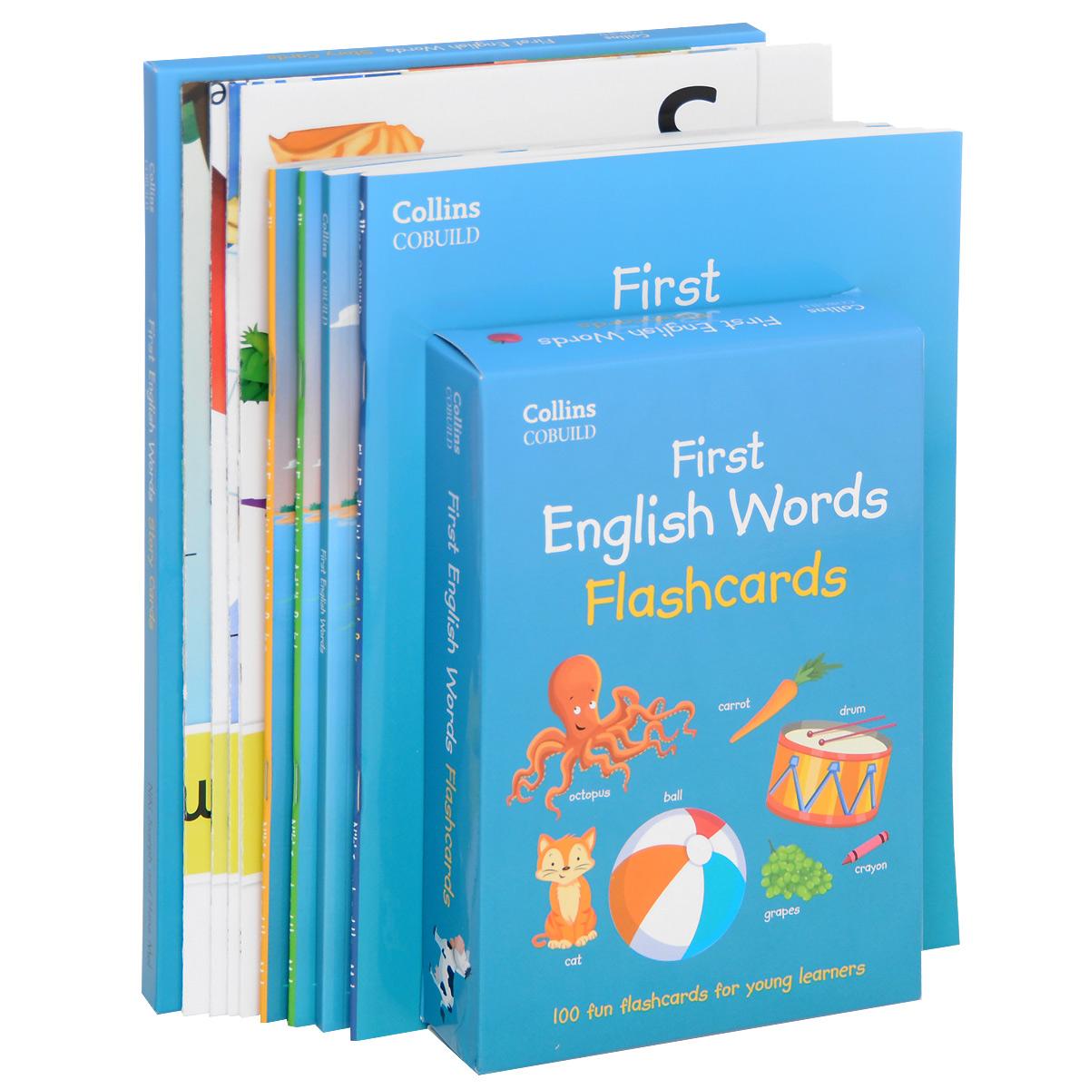 First English Words: Activity Pack: Age 3-7 (комплект из 4 книг, набор из 32 карточек, набор из 100 карточек, 4 плаката, 2 CD)