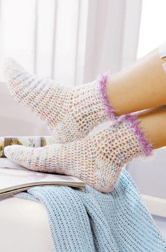 Уютные носочки. Вяжем крючком