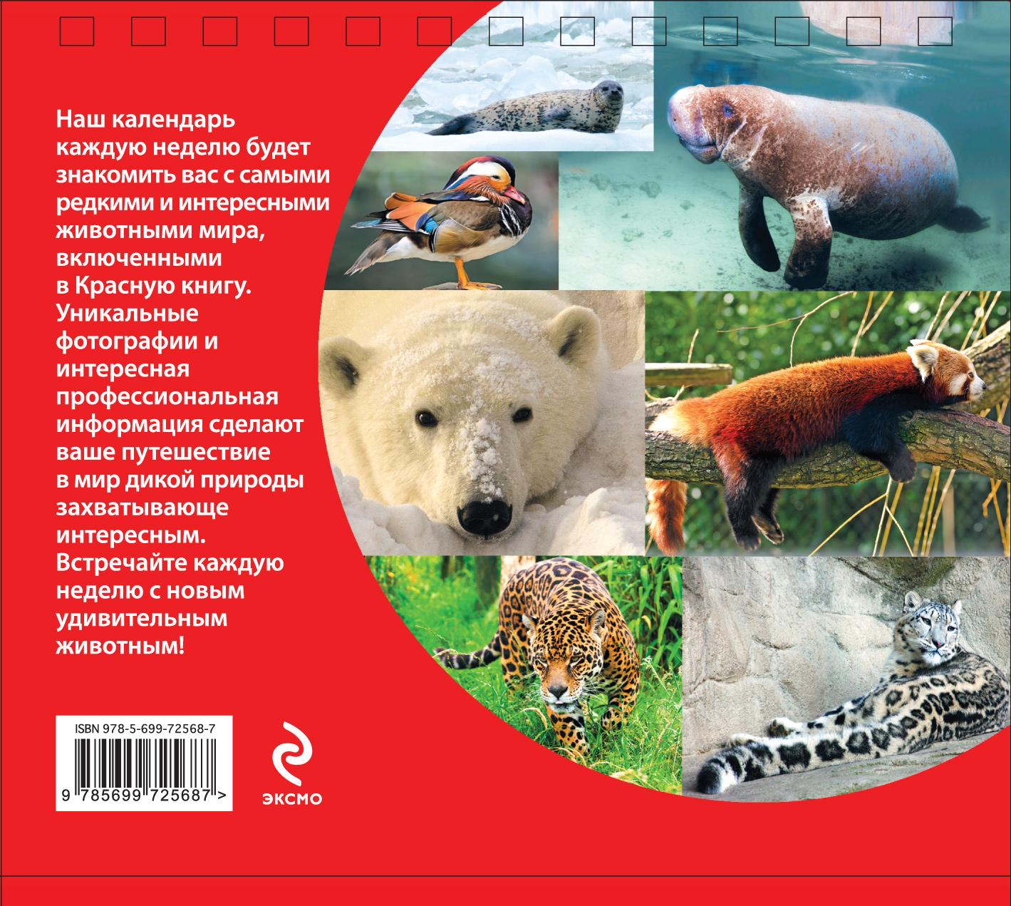 Редкие животные. Красная книга. Еженедельный календарь