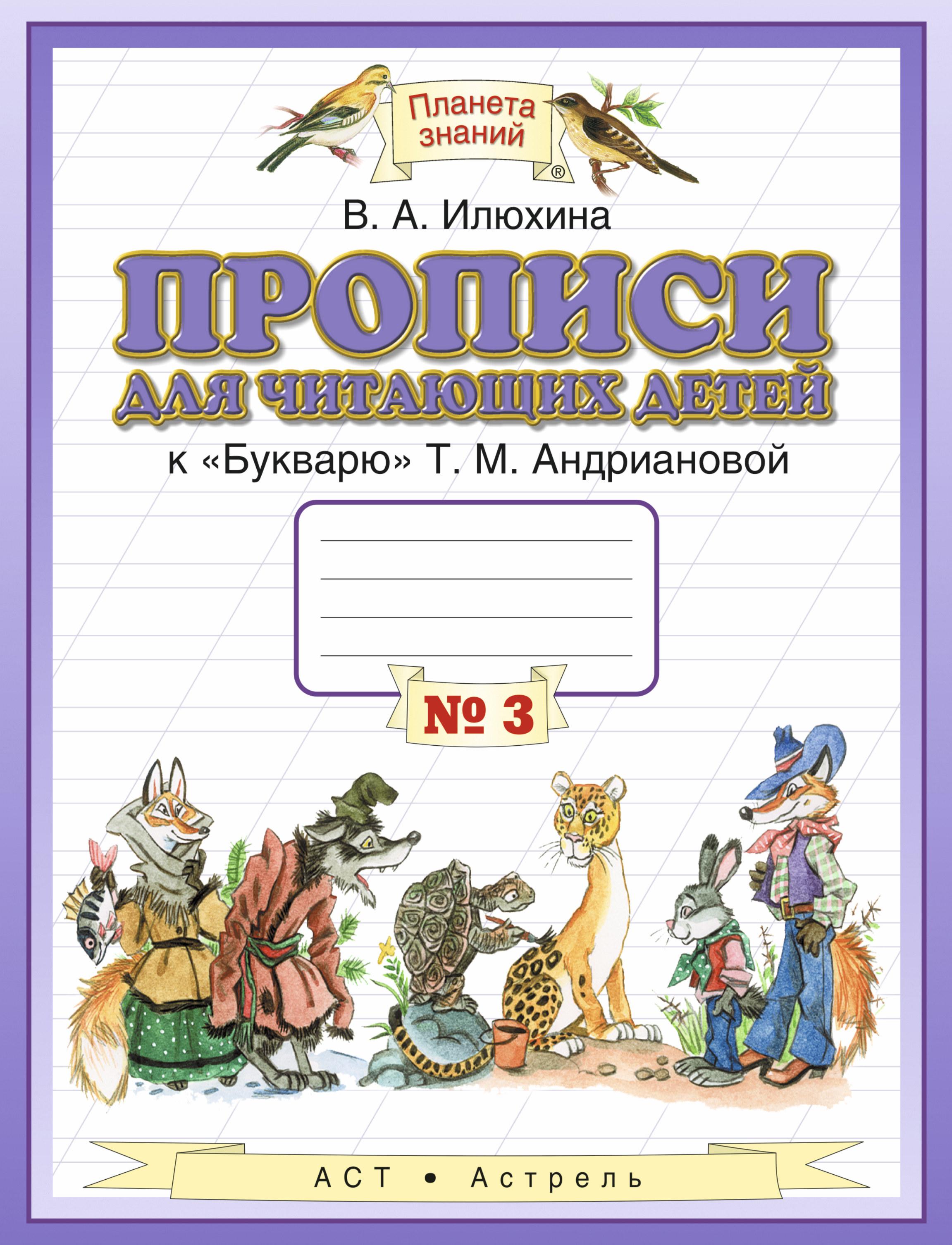 """Прописи для читающих детей. 1 класс. В 4 тетрадях. Тетрадь №3. К """"Букварю"""" Т. М. Андриановой"""