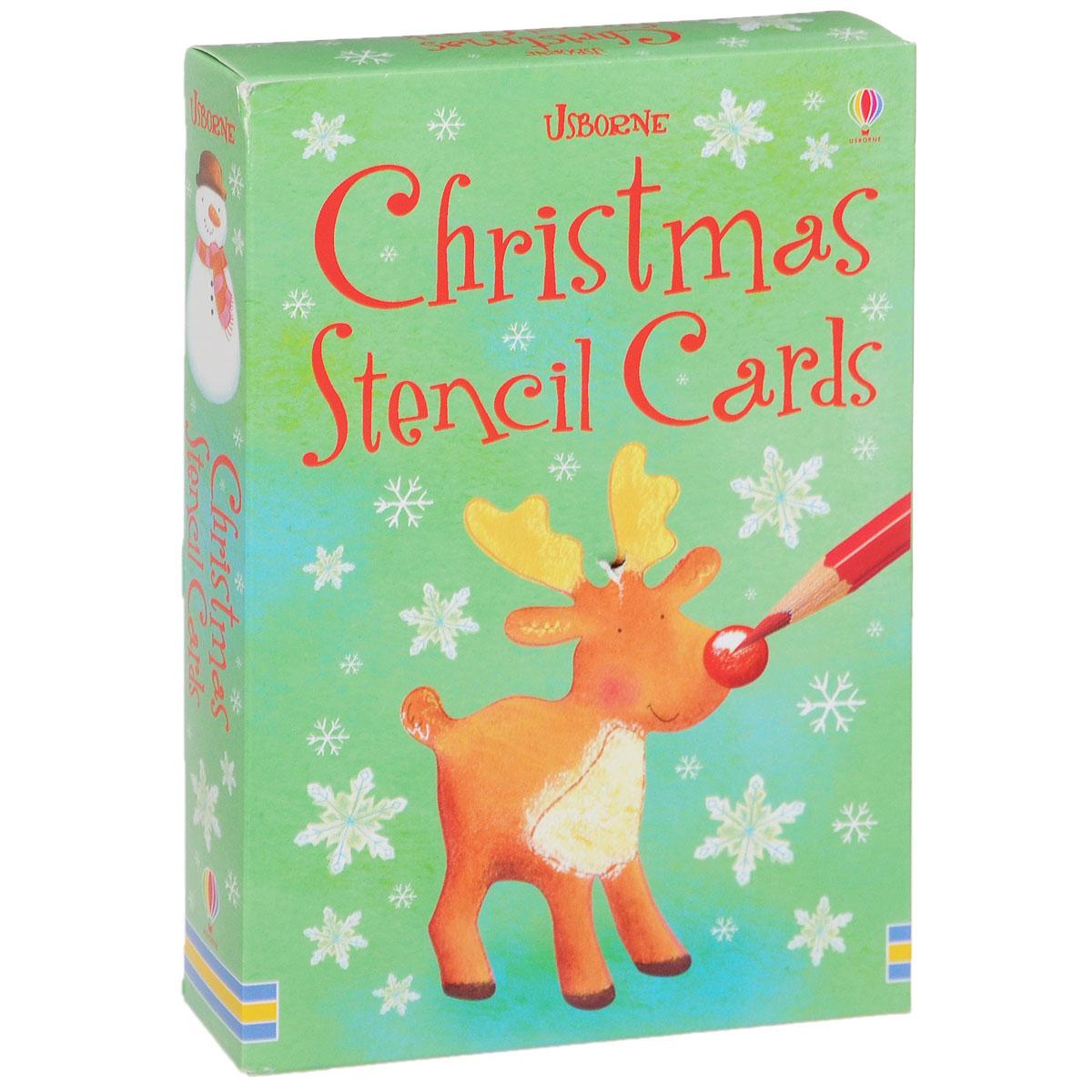 Christmas Stencil Cards (набор из 16 карточек)