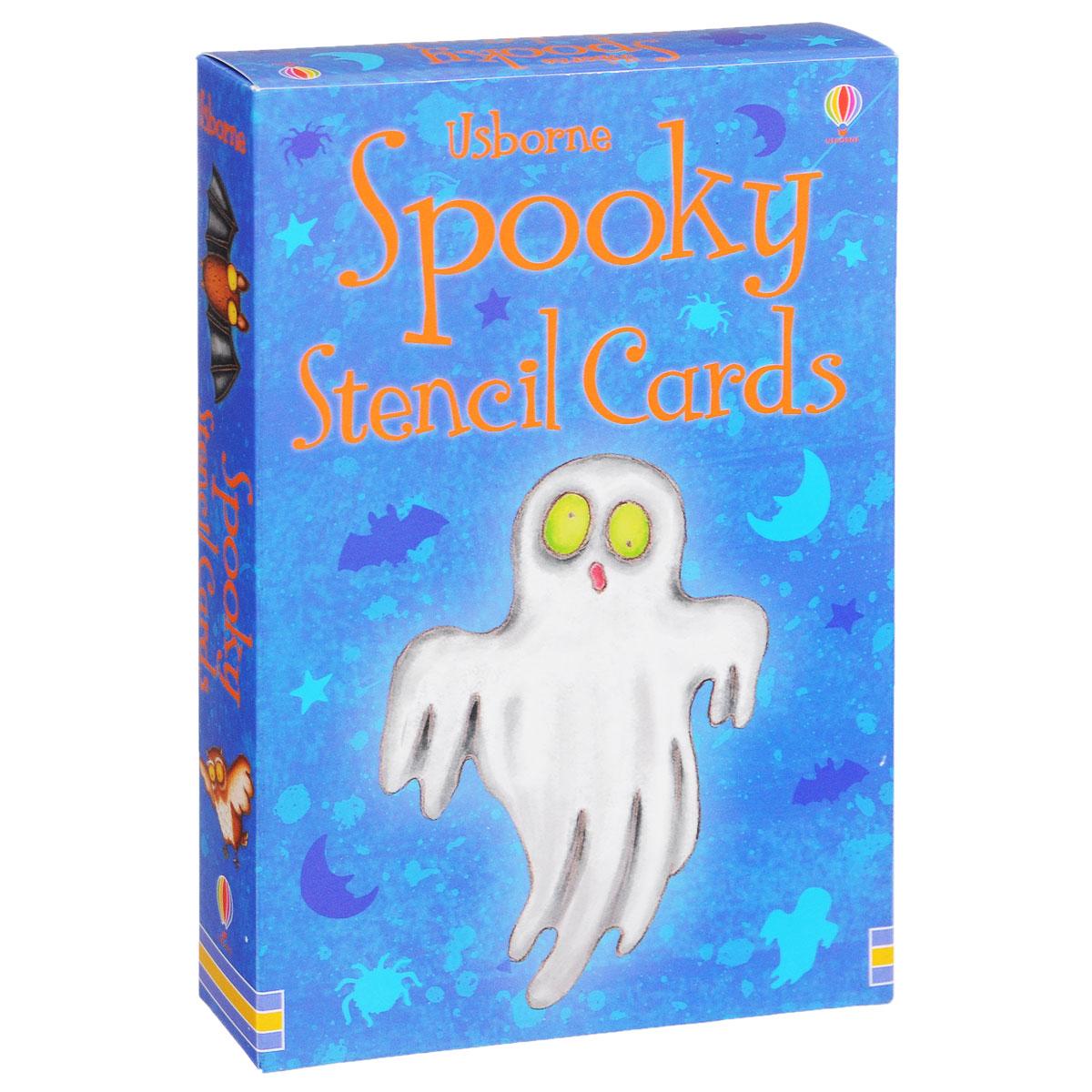 Spooky Stencil Cards (набор из 16 карточек)