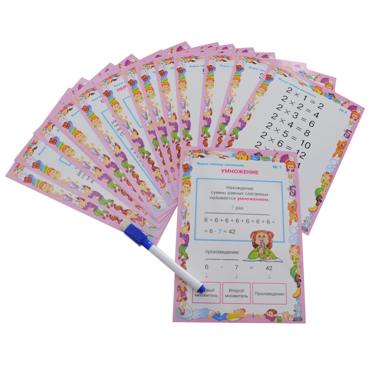 Математика. 2-3 классы. Выучи таблицу умножения (набор из 16 карточек)