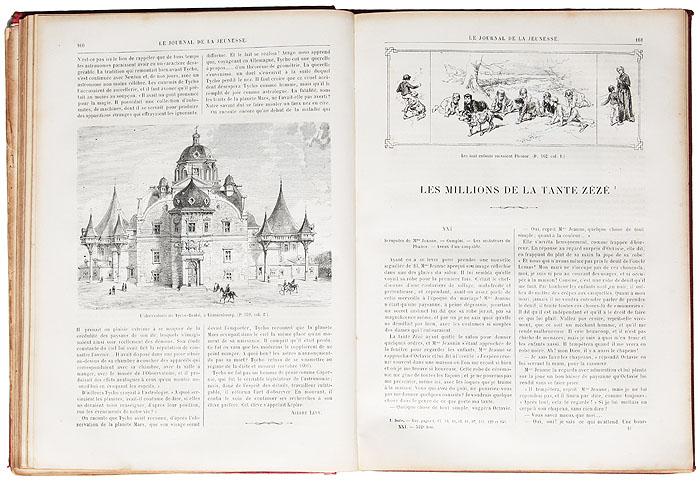 """Подшивка иллюстрированного еженедельника """"Journal de la jeunesse. Nouveau recueil"""" за первое полугодие 1883 года"""