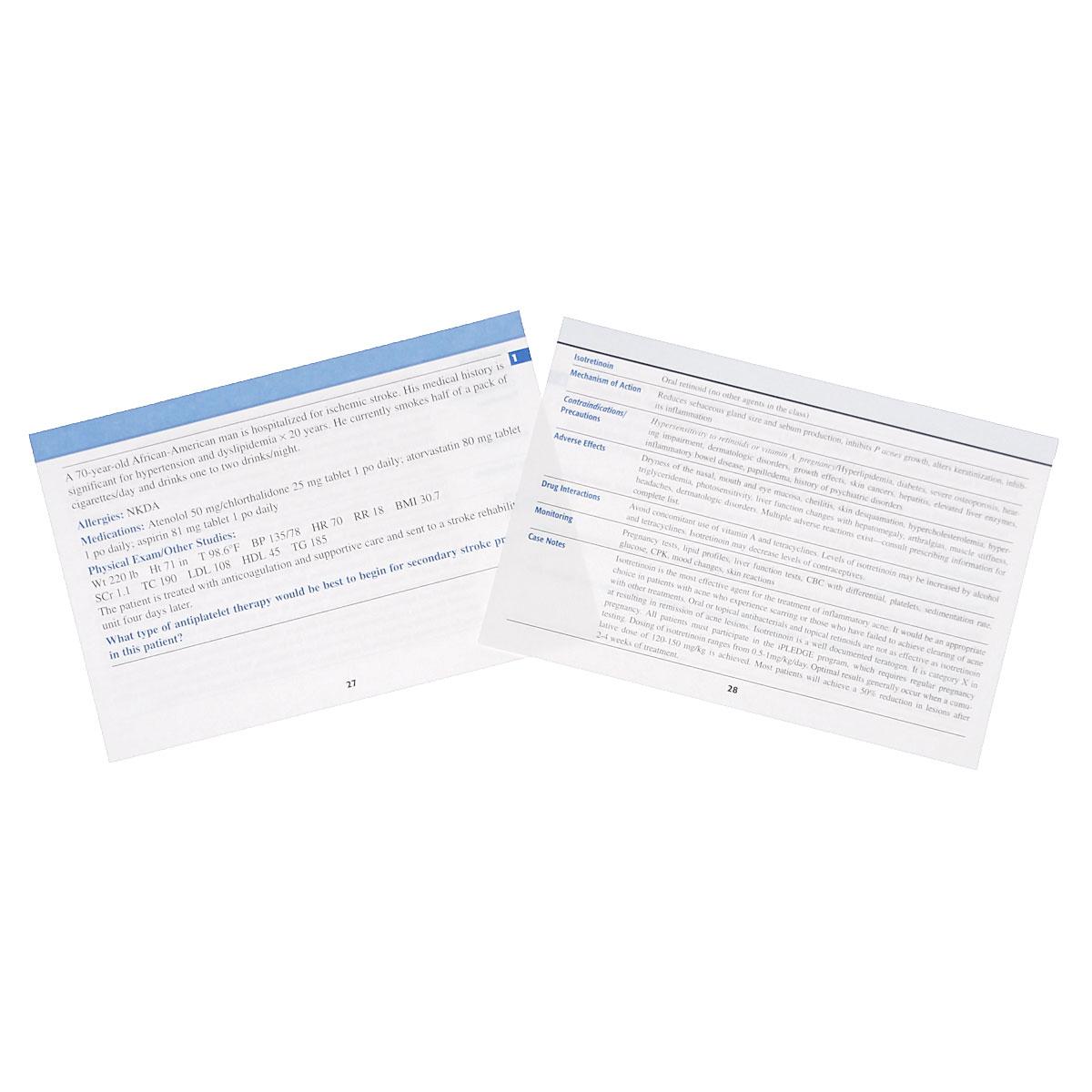 Pharmacotherapy Flash Cards (набор из 304 карточек)