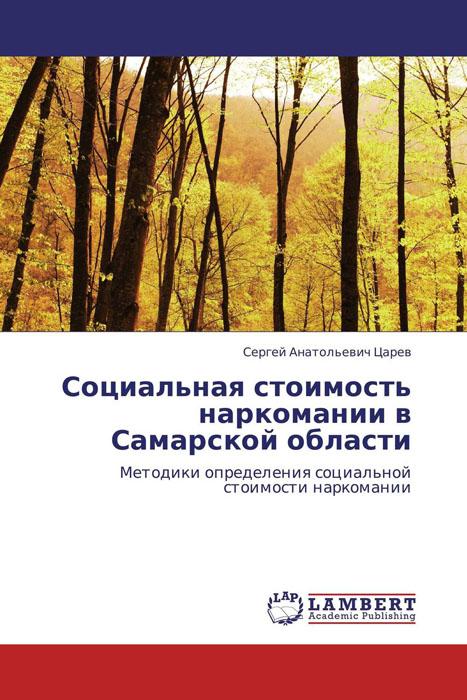 Сергей Анатольевич Царев Социальная стоимость наркомании в Самарской области