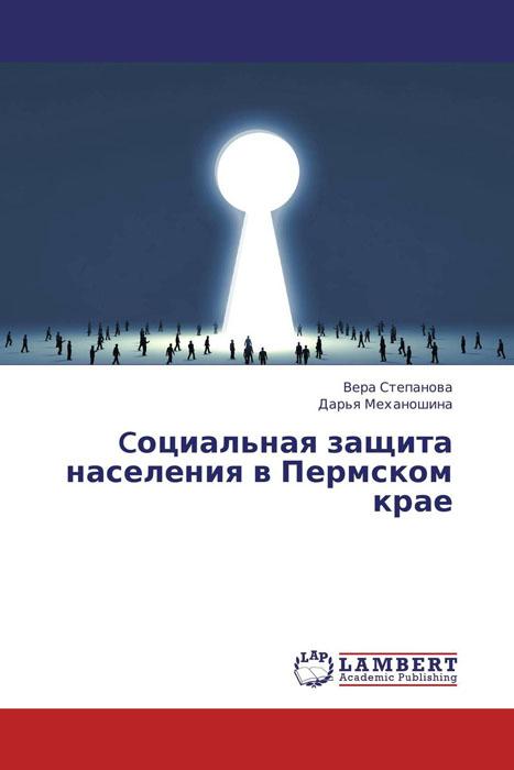 Вера Степанова und Дарья Механошина Cоциальная защита населения в Пермском крае