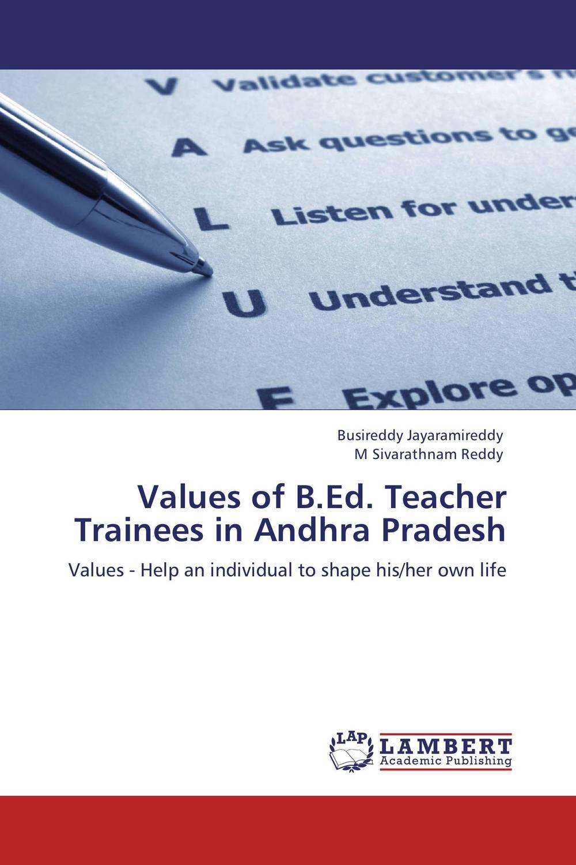 Values of B.Ed. Teacher Trainees in Andhra Pradesh