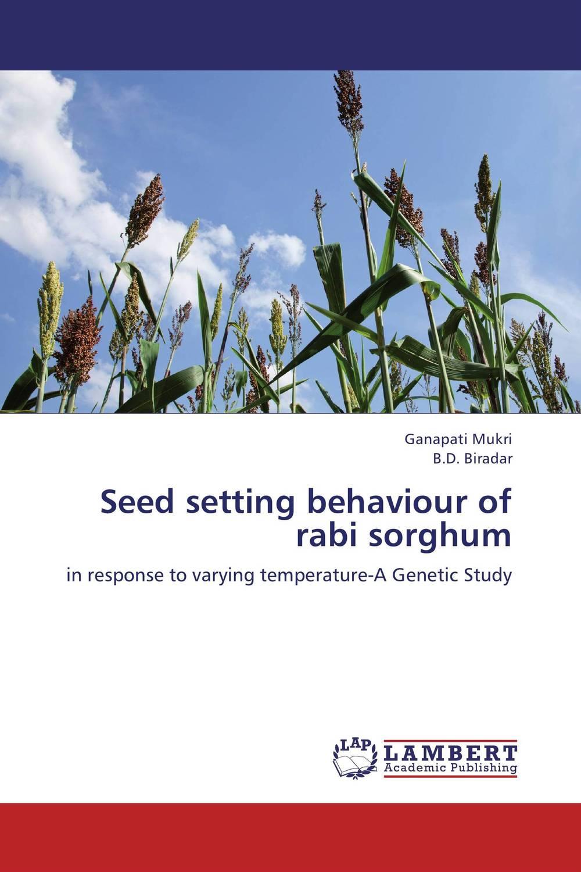 Seed setting behaviour of rabi sorghum