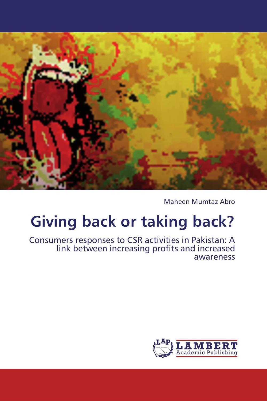 Giving back or taking back?