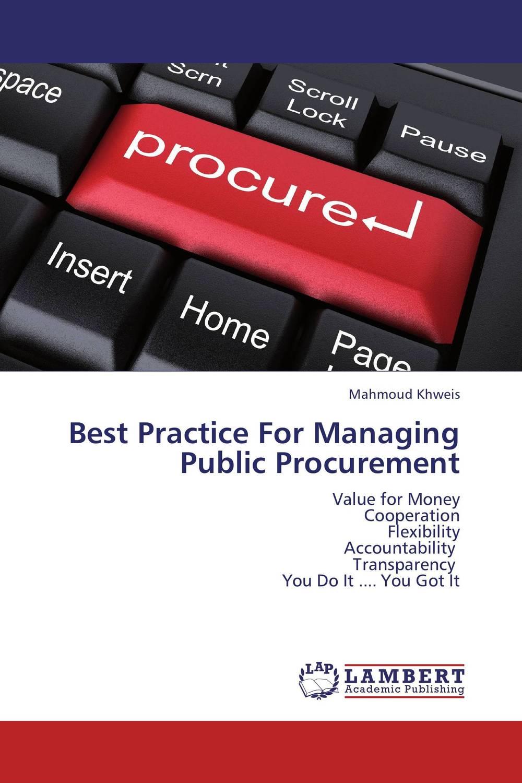 Best Practice For Managing Public Procurement