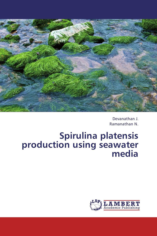 Spirulina platensis production using seawater media