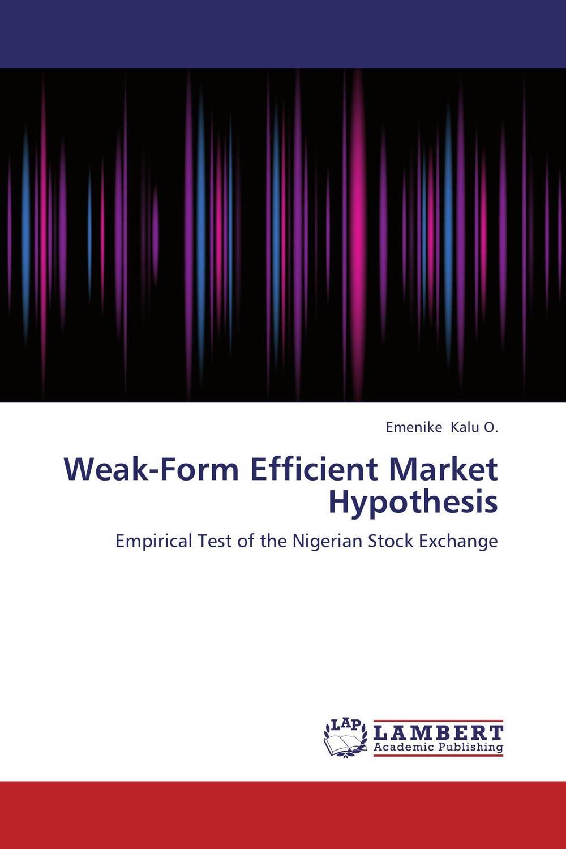 Weak-Form Efficient Market Hypothesis