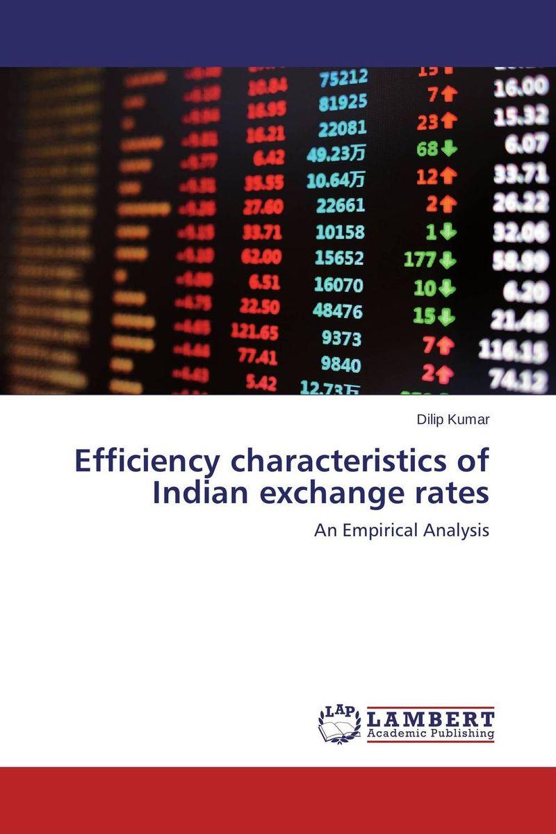 Efficiency characteristics of Indian exchange rates