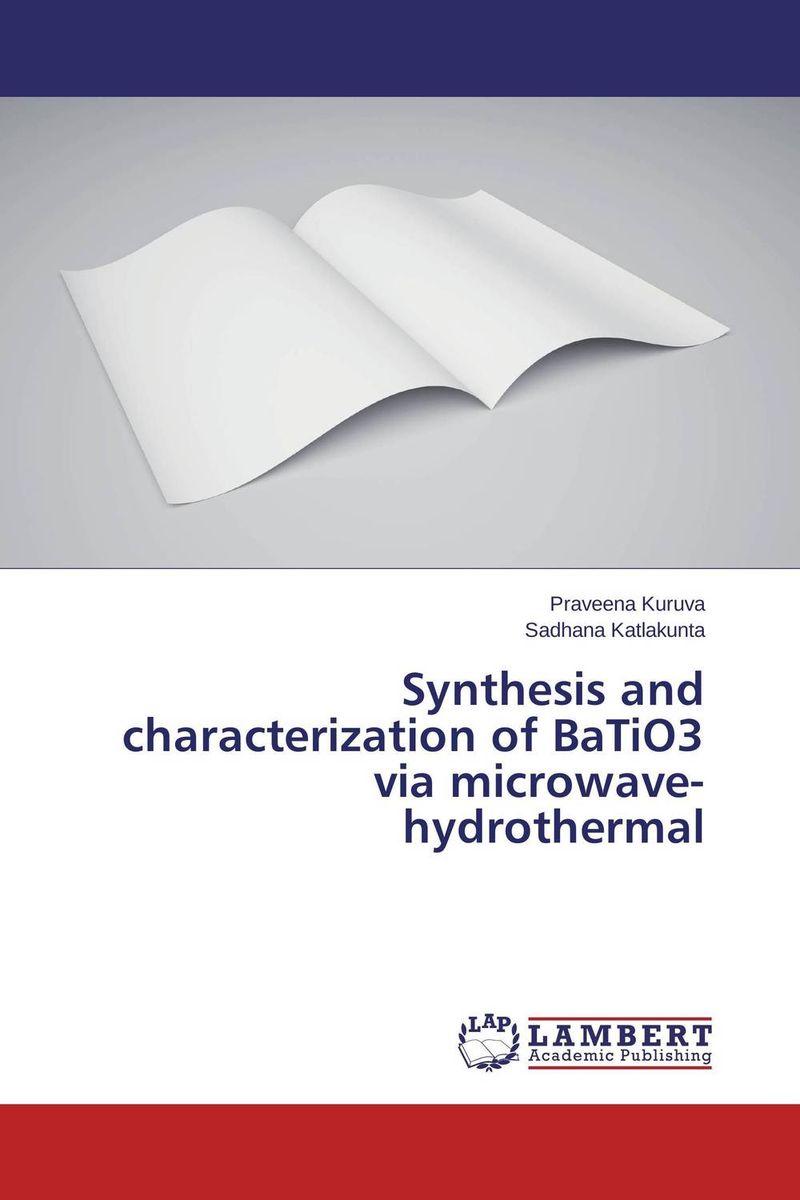 Praveena Kuruva and Sadhana Katlakunta Synthesis and characterization of BaTiO3 via microwave-hydrothermal kawther ahmed and karima hagagg microwave synthesis and its textile application