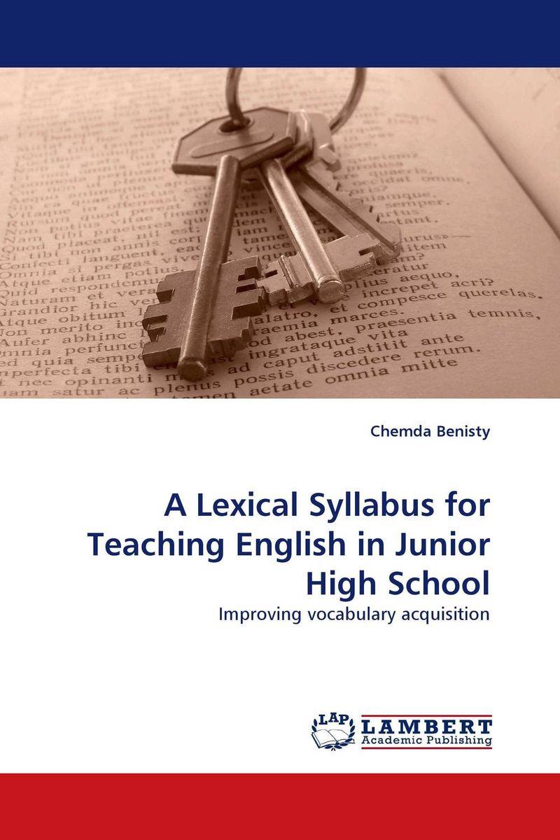 A Lexical Syllabus for Teaching English in Junior High School