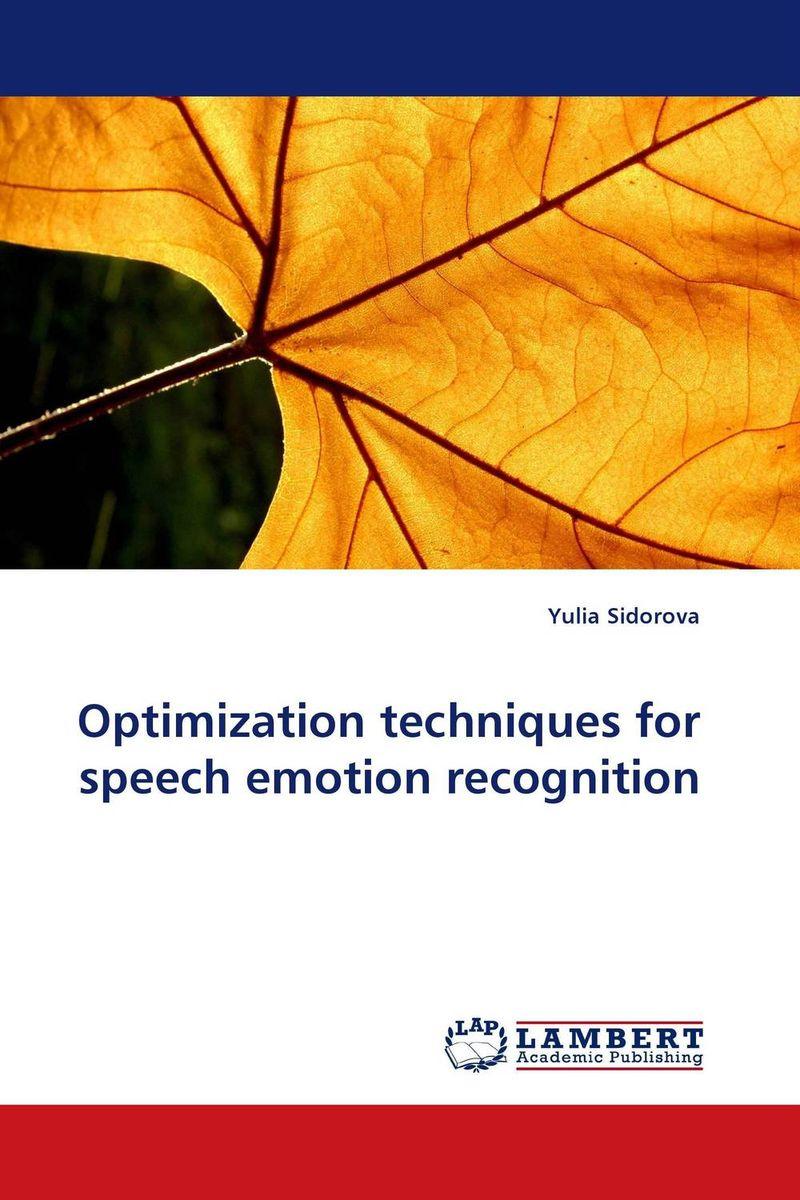 Optimization techniques for speech emotion recognition