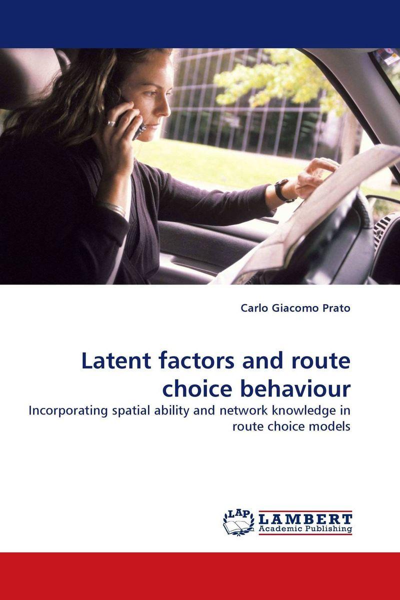 Latent factors and route choice behaviour