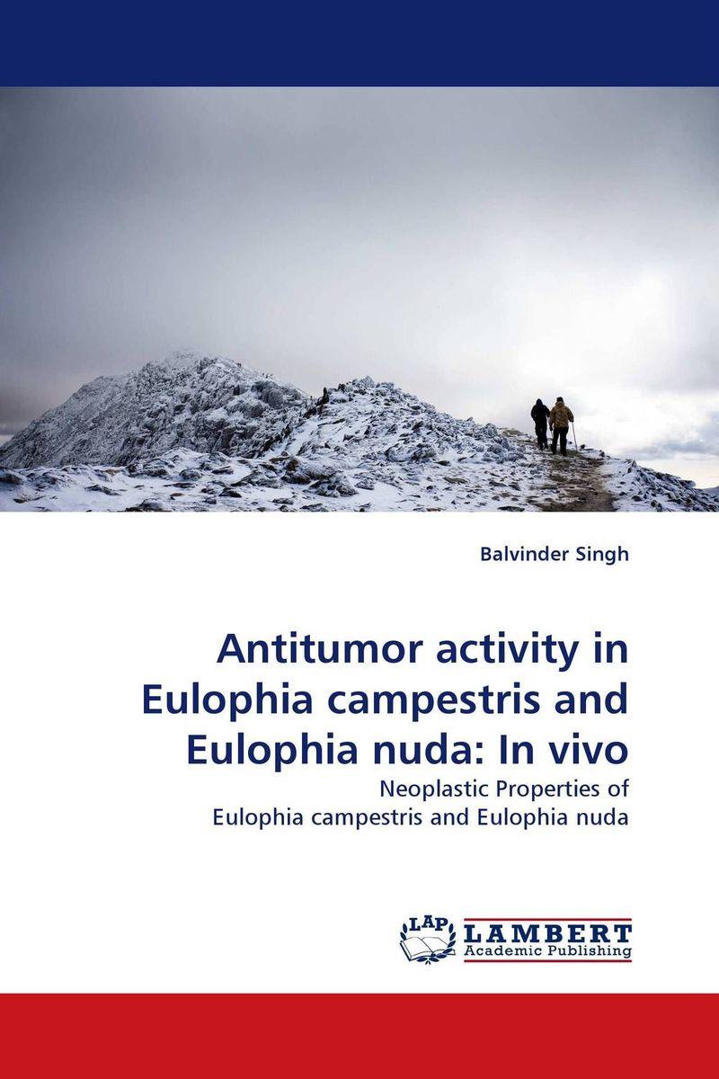 Antitumor activity in Eulophia campestris and Eulophia nuda: In vivo