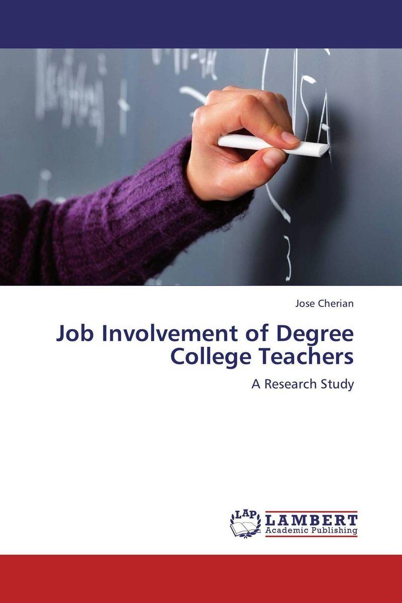 Job Involvement of Degree College Teachers