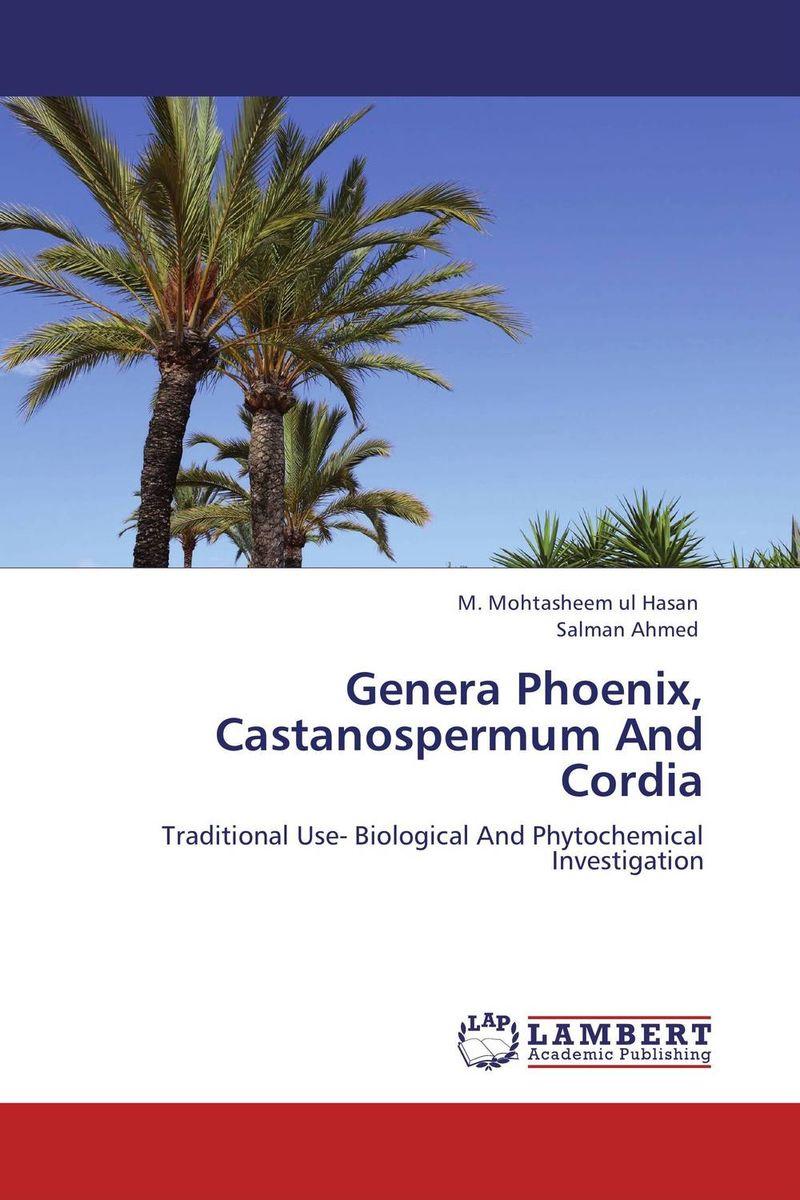 Genera Phoenix, Castanospermum And Cordia