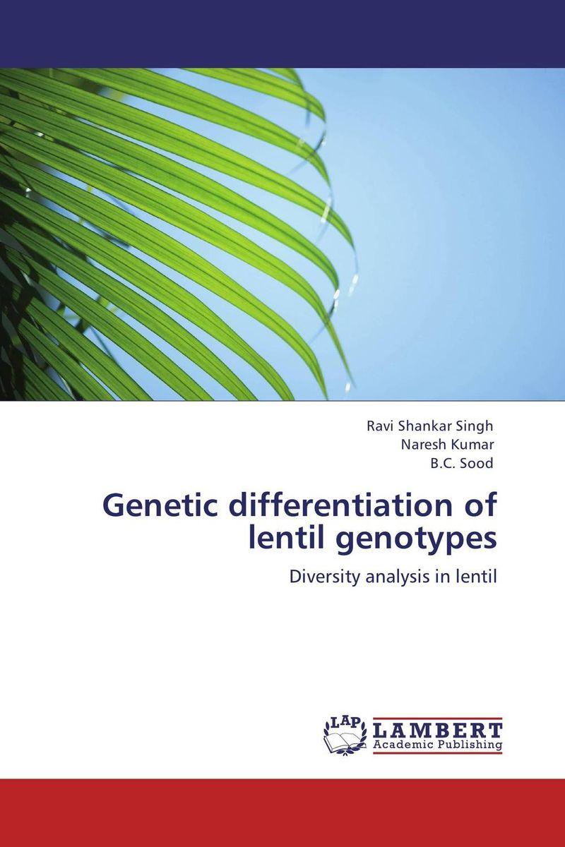 Ravi Shankar Singh,NARESH KUMAR and B.C. Sood Genetic differentiation of lentil genotypes vaishali shami naresh pratap singh and pramod kumar pal morpho physio and genetic diversity analysis on indian wheat genotypes