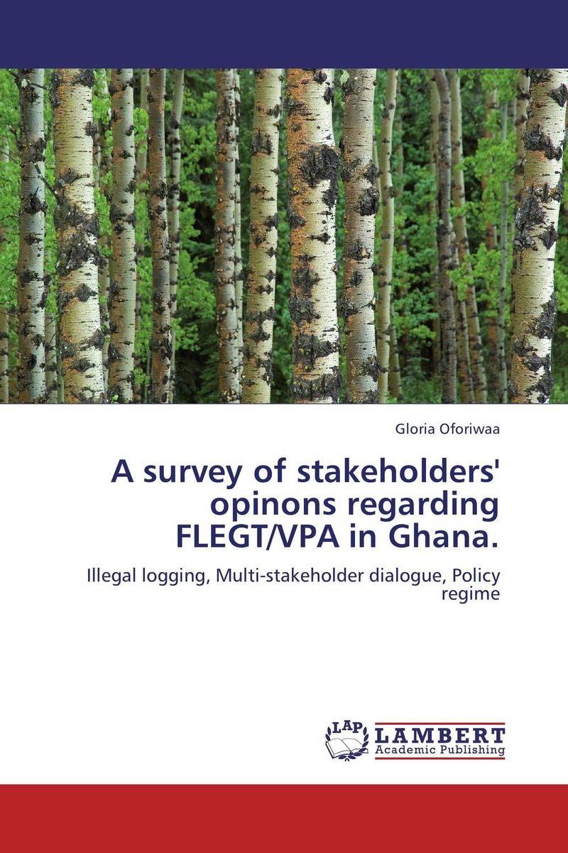 A survey of stakeholders' opinons regarding FLEGT/VPA in Ghana.