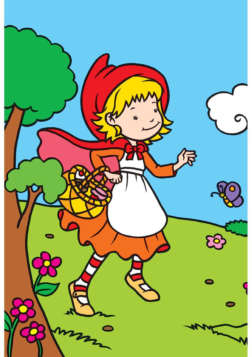 Красная Шапочка. Раскраска