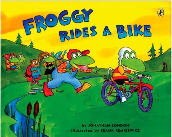 Froggy Rides a Bike