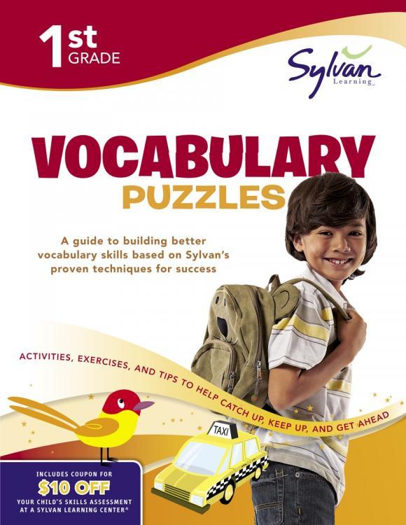 First Grade Vocabulary Puzzles (Sylvan Workbooks)