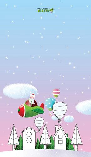 25 новогодних открыток-раскрасок