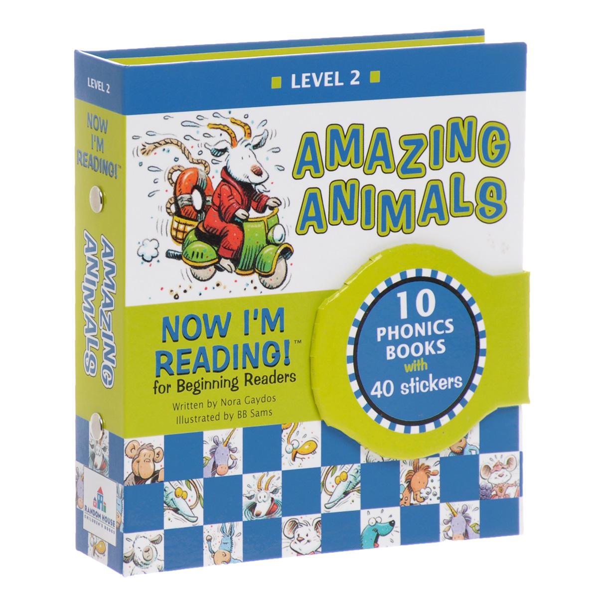 Now I'm Reading! Level 2: Amazing Animals (комплект из 10 книг + наклейки)