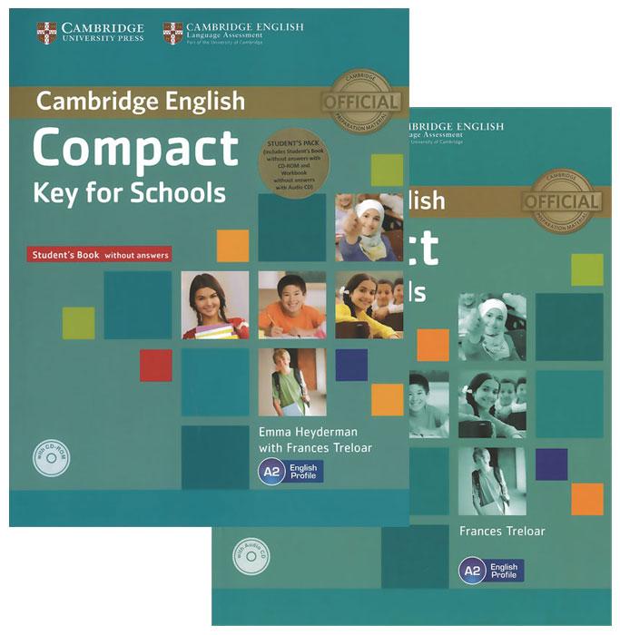 Emma Heyderman, Frances Treloar Compact Key for Schools: Level A2 (комплект из 2 книг + CD-ROM, CD) aladdin level 2 cd rom
