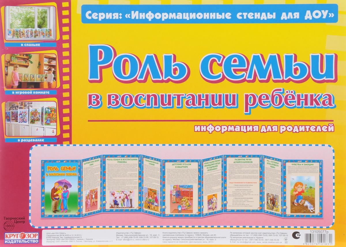 Роль семьи в воспитании ребенка. информация для родителей. Информационный стенд