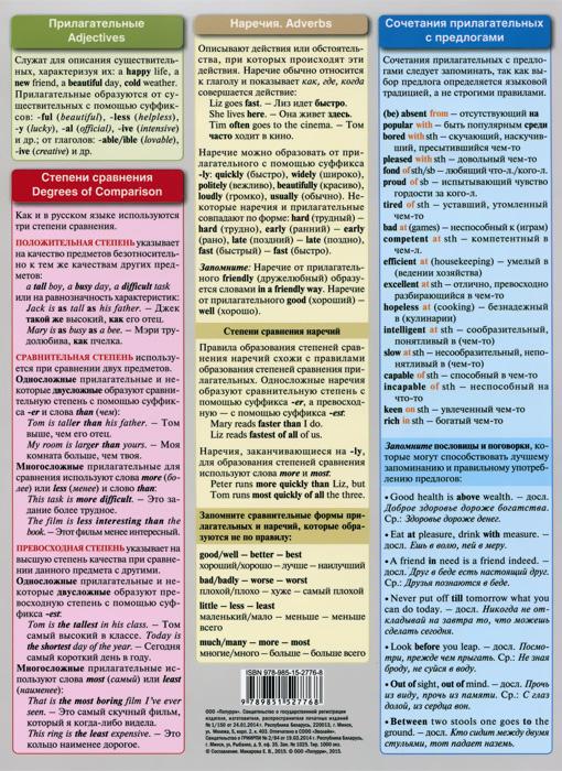 Английский язык. Шпаргалка 4 для детей и их родителей