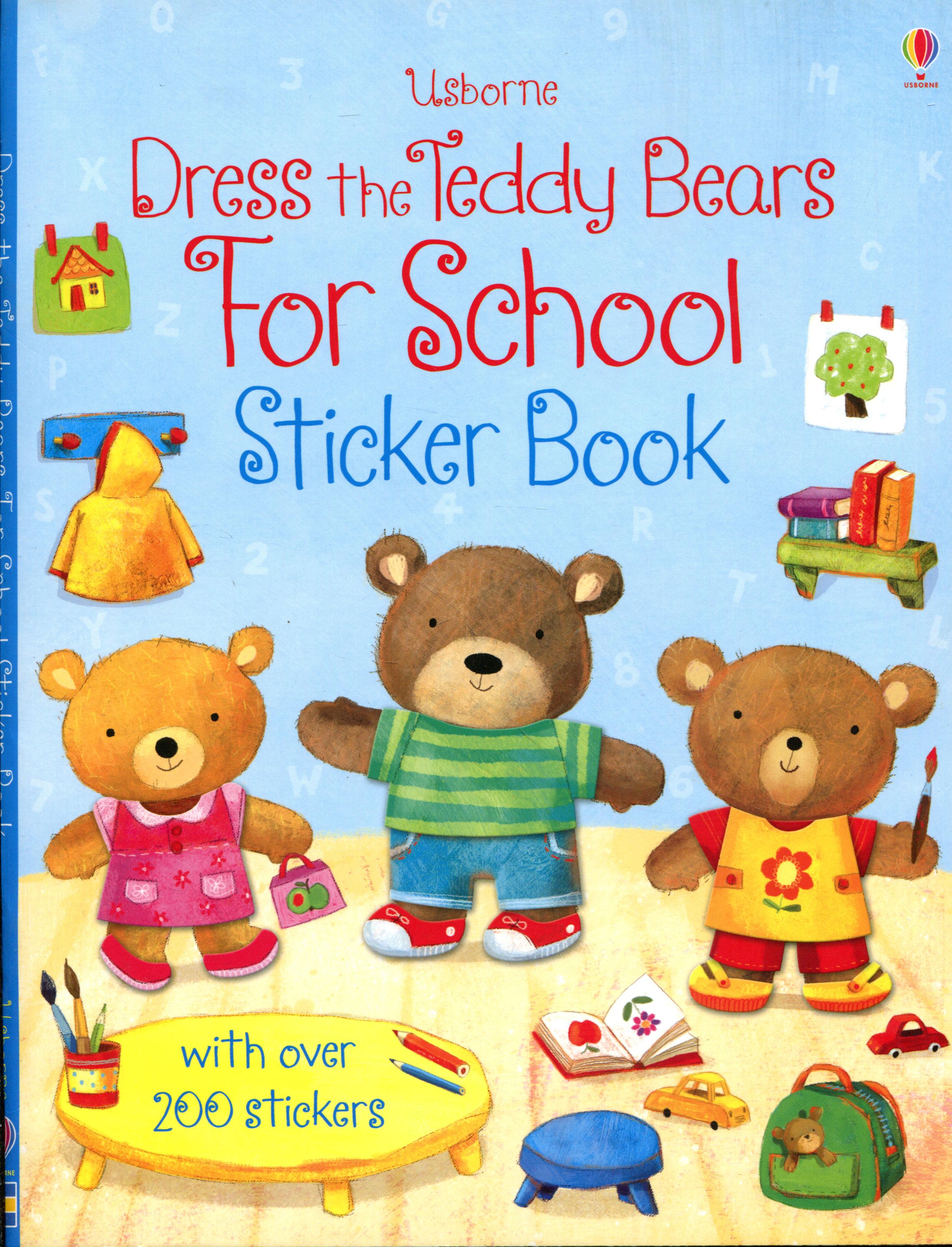 Dress the Teddy Bears for School: Sticker Book