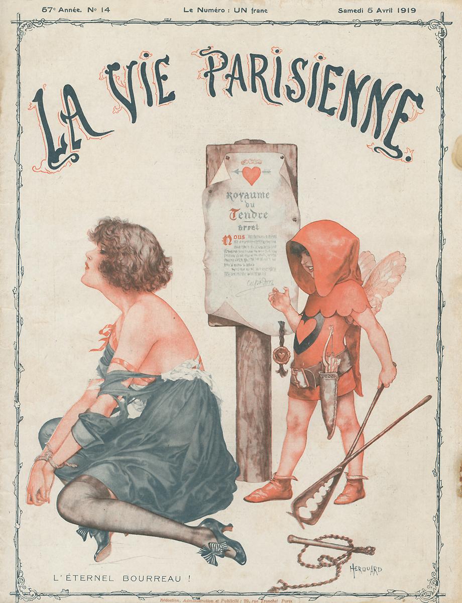 La Vie Parisienne, №14, март 1919пк2м20_серыйПариж, 1919 год, Imprimerie G. de Malherbe et Cie. Сохранность хорошая. Предлагаем вашему вниманию журнал La Vie Parisienne (Парижская жизнь). Редкое периодическое издание эпохи Модерн.