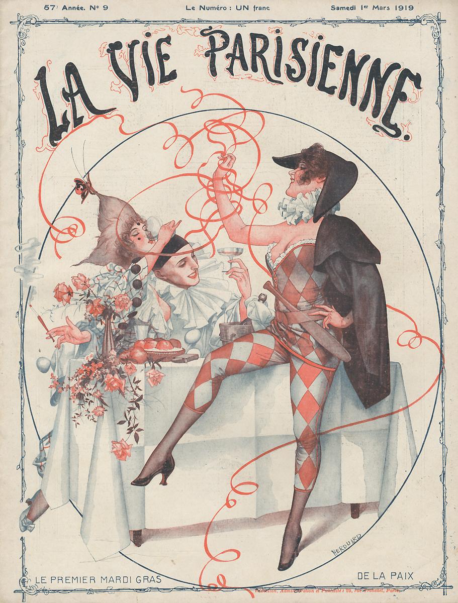 La Vie Parisienne, №9, mars 19198913-5Париж, Imprimerie G. de Malherbe et Cie. Сохранность хорошая. Предлагаем вашему вниманию журнал La Vie Parisienne (Парижская жизнь). Редкое периодическое издание эпохи Модерн. Франция. Март 1919.