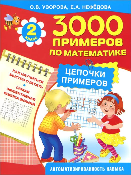Математика. 2 класс. Цепочки примеров12296407Пособие представляет собой рабочую тетрадь за весь курс математики для 2-го класса. Интересные упражнения помогут второкласснику не только быть успешным на уроках математики в школе, но и разовьют внимание, память, логическое мышление, умение концентрироваться, помогут при решении олимпиадных задач. Забавные герои на страничках книжки развеселят и поддержат прилежных учеников. Математические ребусы и шарады заставят поразмышлять над правильным ответом. Задания с цепочками примеров автоматизируют навыки счета, закрепляют правила выполнения простых математических действий. В конце каждого столбика ребенок с удовольствием впишет время, потраченное им на решение.