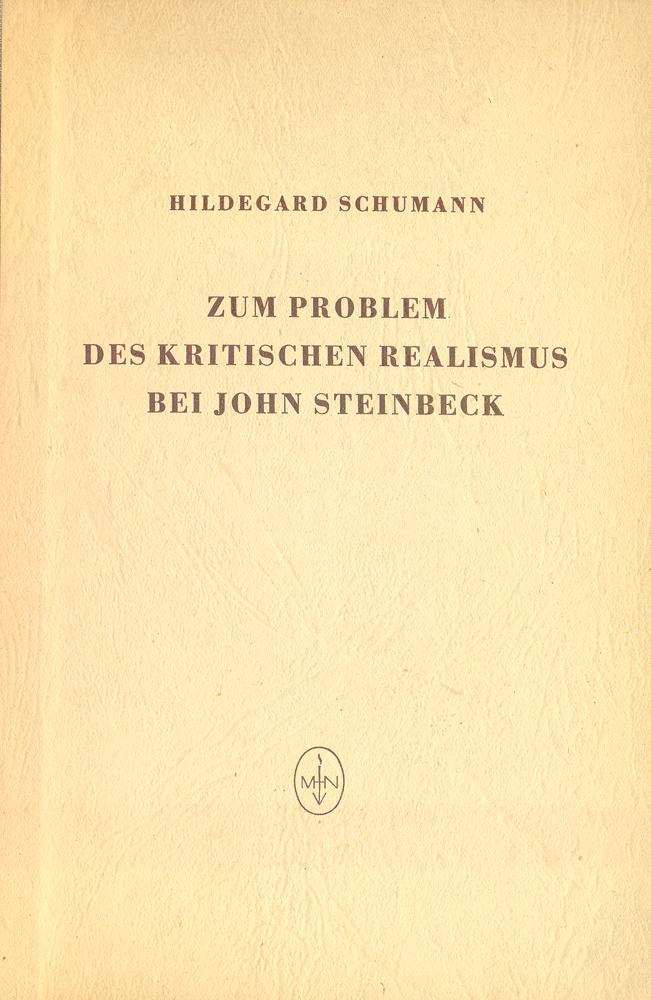 Zum problem des kritischen realismus bei John Steinbeck
