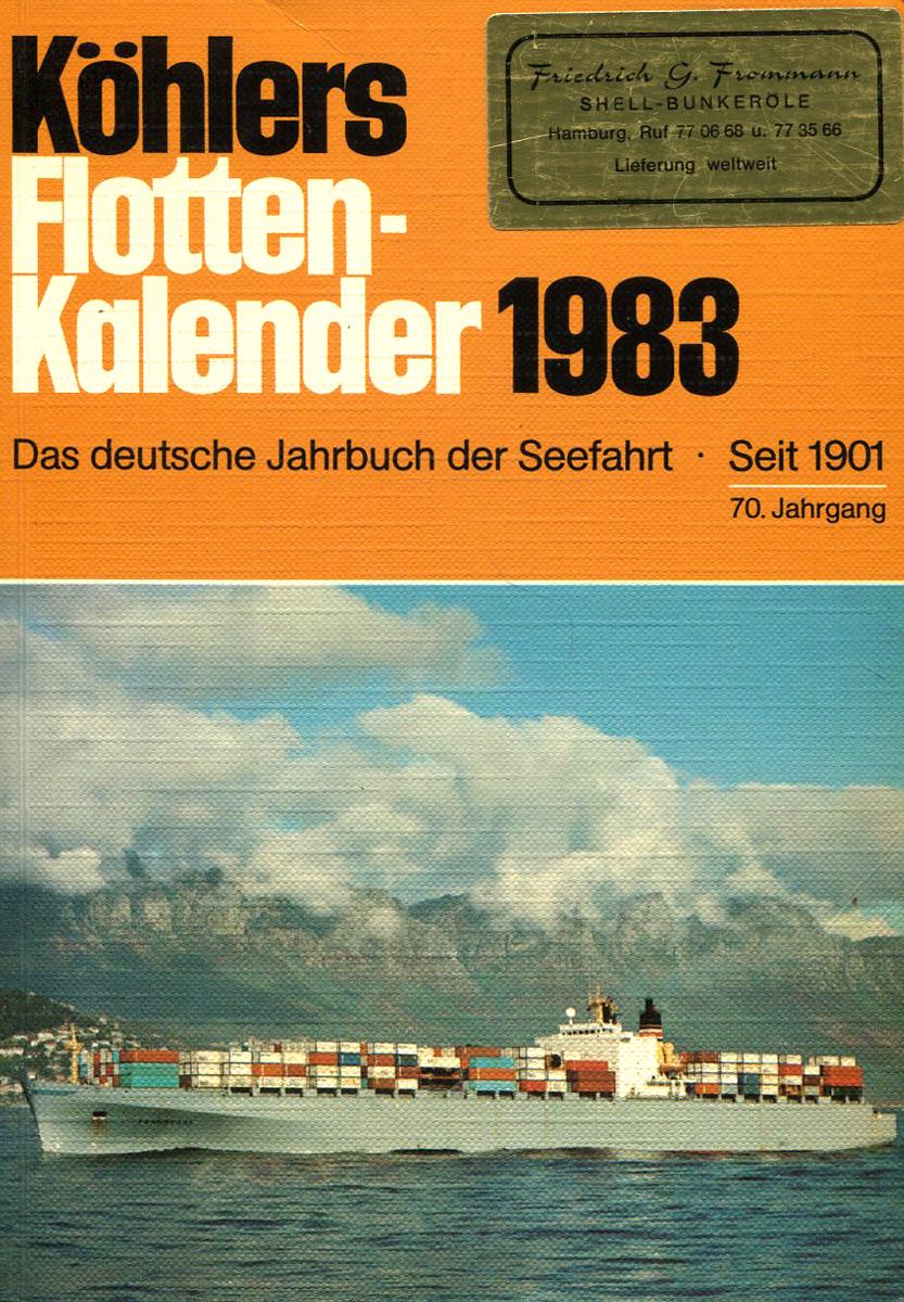 Kohlers Flotten-Kalender 1983